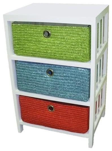 Wicker Basket Storage Shelf - Contemporary - Wall Shelves - by Overstock.com