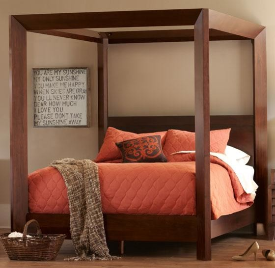 Modern Canopy Bed : All Products / Bedroom / Beds & Headboards / Beds / Canopy Beds