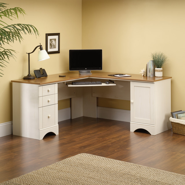 Harbor View Collection Corner Computer Desk Modern