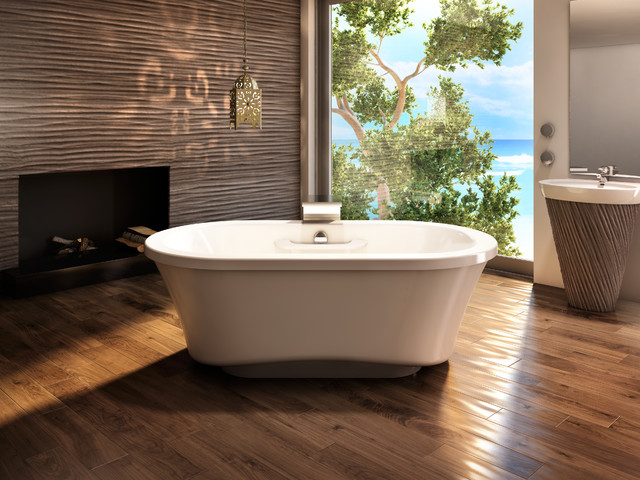 Amma oval 7242 freestanding tub narrow base for Narrow deep soaking tub