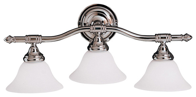 Kichler Lighting 6483CH Broadview Chrome 3 Light Vanity craftsman-bathroom-vanity-lighting