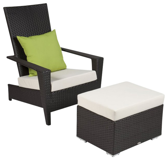 Martano Stackable Chair With Ottoman Contemporary Outdoor Lounge Chairs