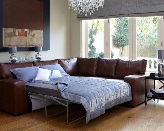Sloane Leather Corner Sofa Bed -