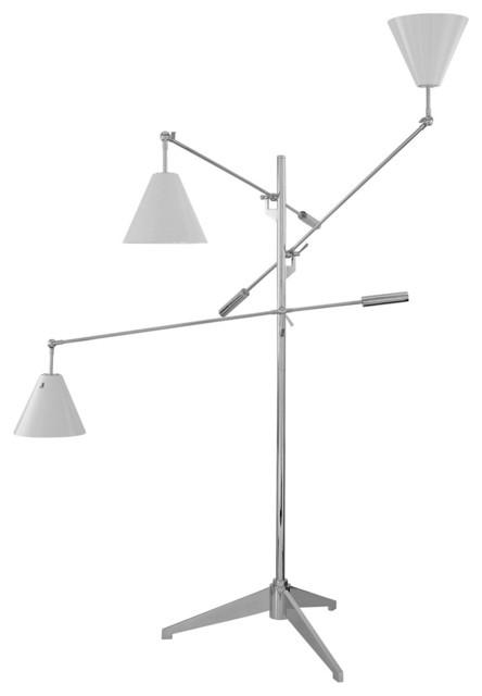 Sonneman 3636.01W Treluci Polished Chrome Floor Lamp contemporary-floor-lamps