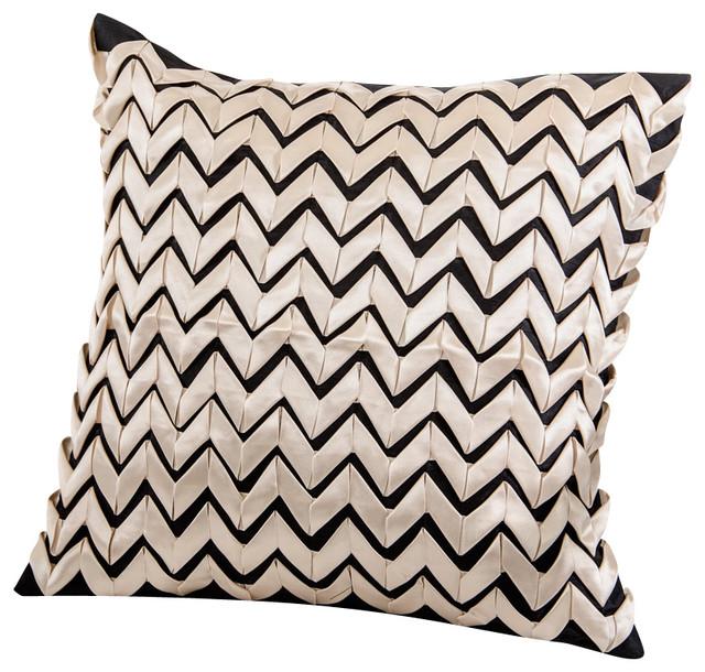 Modrest Ribbon Black and White Throw Pillow modern-decorative-pillows