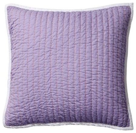 Lilac/Grape Cabin Quilt Euro Sham traditional-shams