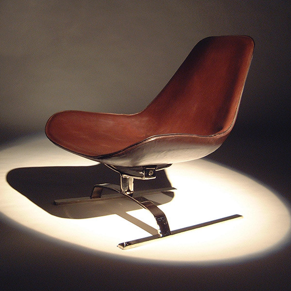 Brown leather chair design