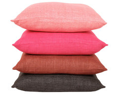 Raw Silk Pillows traditional-pillows