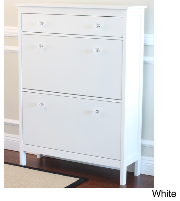 Shoe Cabinet with Storage Drawer contemporary-clothes-and-shoes ...