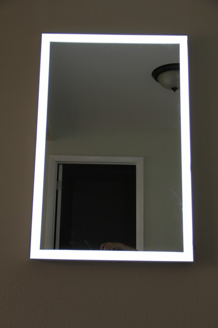 Lighted Image - LED Illuminated Mirror with Aluminum Frame - Contemporary - Bathroom Mirrors ...