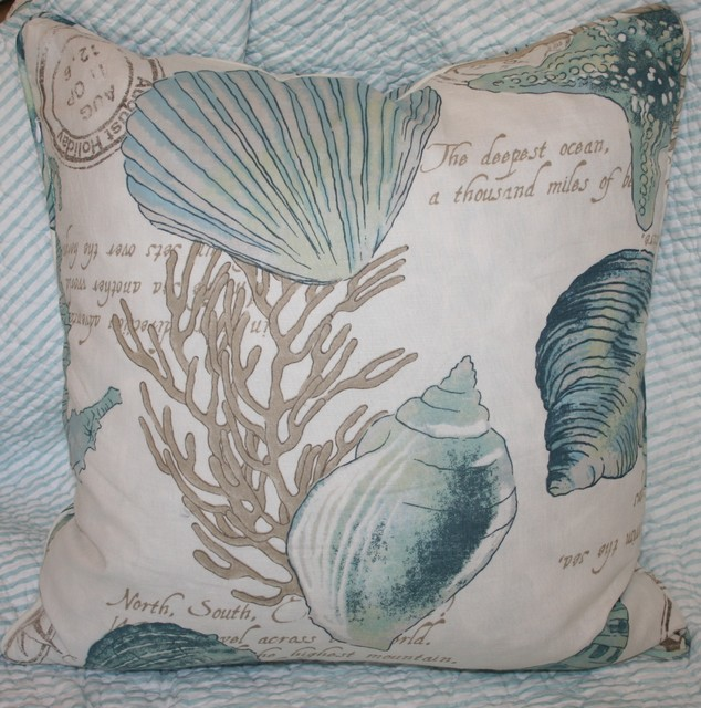 Seashell Pillow tropical bed pillows