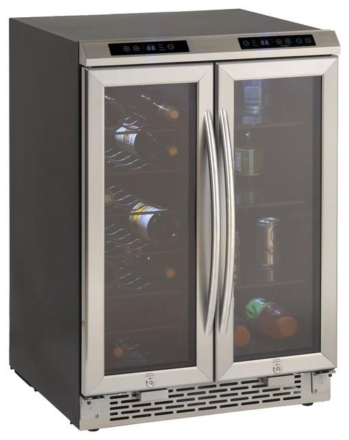 2 Door Wine Cooler/Beverage Center, Stainless Steel - Traditional - Beer And Wine Refrigerators ...
