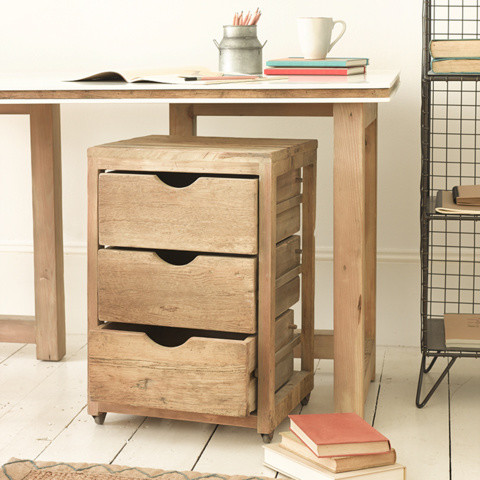 Solid Wood Drawer Unit | Rolly | Loaf - Rustic - Filing Cabinets - by ...