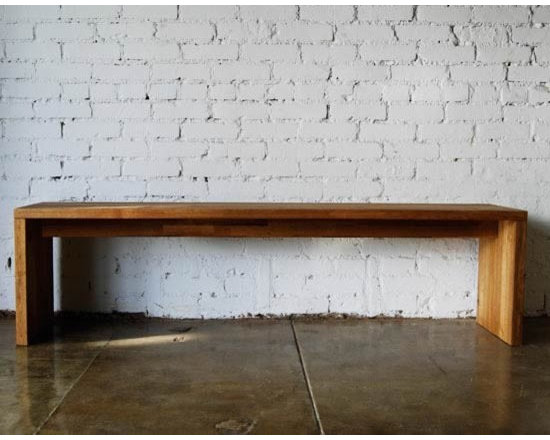 MASHstudios Bench - Sit in style. Durable enough for industrial use, yet refined for the most luxurious setting. The LAXseries bench by MASHstudios, made of solid English Walnut, is a classic addition to the modern home.