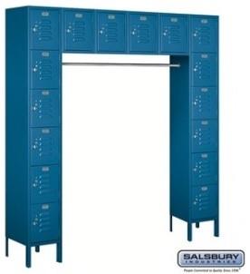 Standard metal locker six tier box style bridge 16 box for Kitchen cabinets 16 inches deep