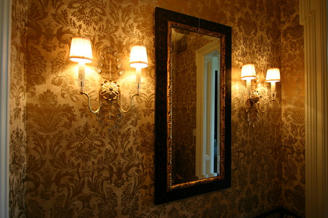 Wall coverings eclectic-powder-room