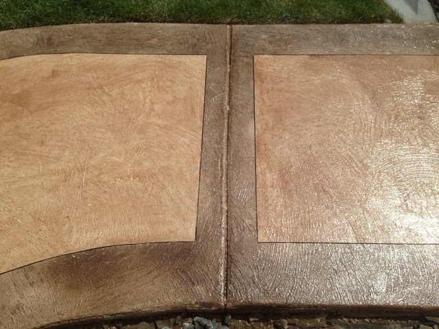 Leggari Custom Hand Texture with Troweled on Stain contemporary