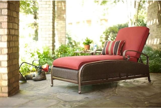 Martha Stewart Living Chaise Lounges Cedar Island All Weather Wicker Adjustab