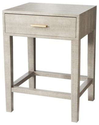 Threshold Gray Faux Snake Skin Accent Table With Drawer