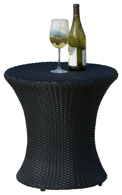 lorenzo outdoor wicker accent table black contemporary outdoor side tables by great deal. Black Bedroom Furniture Sets. Home Design Ideas