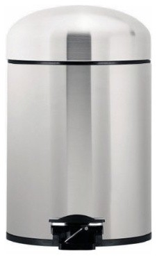 Brabantia Retrobin Red 1 Gallon Trash Can modern kitchen trash cans