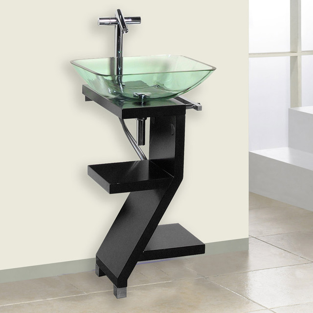 Petite Powder Room Vanity Black Modern Bathroom Vanities And Sink