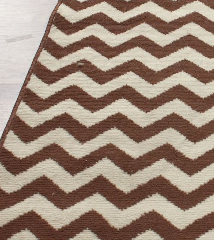Home Value Chevron Brown Rug Contemporary Rugs By