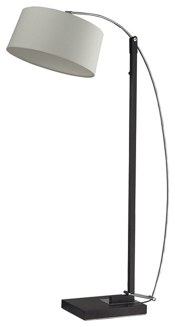 Dimond D2183 Dark Brown Logan Square Floor Arc Lamp modern-floor-lamps