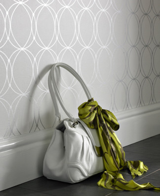 Graham and Brown Mode Wallpaper - Darcy Pattern - in Pearl - Outlet Item (Condit modern wallpaper