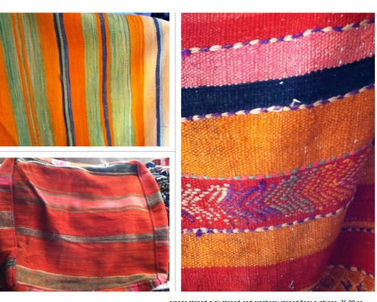 floor cushions from morocco - 60 cm x 60 cm square floor cushions made from vintage blankets. can make 3 - 4 cushions per blanket.