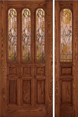 Jeld-Wen 407 Oak Door and Sidelight Gunstock Finish - Traditional - Front Doors - tampa - by US ...