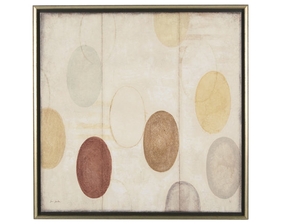 Ethan Allen - Modern Study - Soothing and spa-like. This abstract gicl?e on canvas evokes a New Age sensibility. it's presented in a deep shadow box frame and finished in burnished silver, reflecting the work's soft mineral palette. By Sean Jacobs, a contemporary American artist.