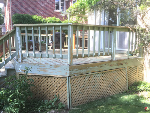 Exterior Deck repainted with exterior solid stain