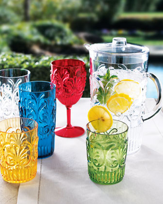 Six Marcelle Iced-Tea Glasses traditional glassware