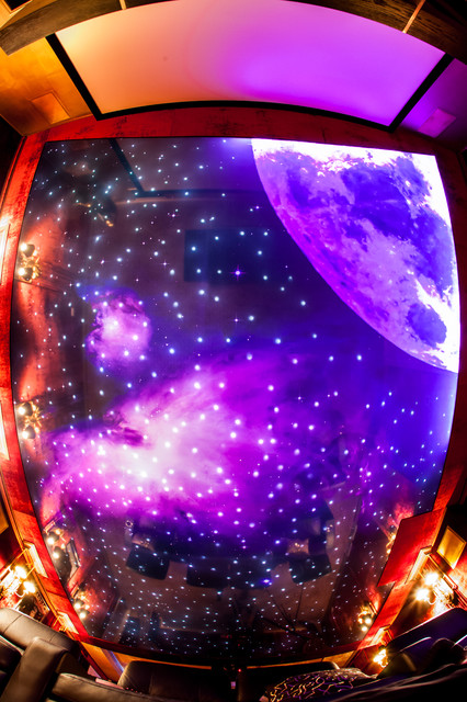 Home Theater Night Sky Ceiling Project modern