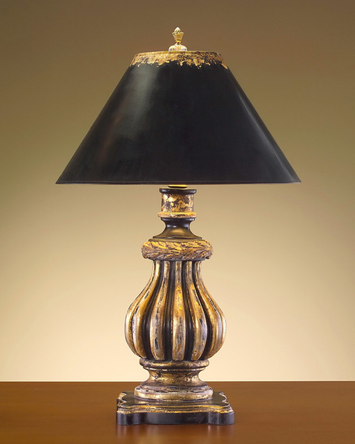 hand finished black and gold composition lamp contemporary lamp shades. Black Bedroom Furniture Sets. Home Design Ideas