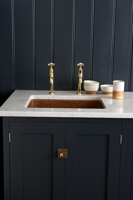 Double sink bathroom ideas - The Pantry Blue Utility Room By Devol Rustic East Midlands By