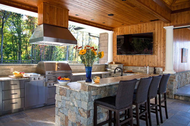 Kalamazoo island mount ventilation hoods contemporary for Outdoor kitchen grill hood