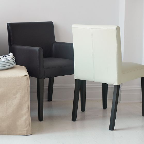 Porter Leather Dining Chairs Modern Dining Chairs By West Elm