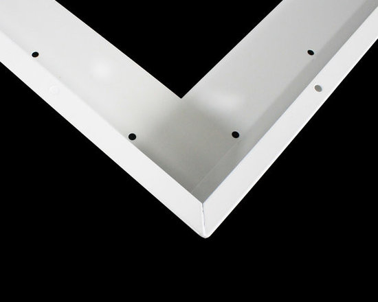 MaxLite - MLSMKFP14E Surface mount kit for 1'x4' Edge Lit LED Flat Panel - Use the Surface mount kit for 1'x4' Edge Lit LED Flat Panel to sleekly mount your overhead lights when recess mounting is not an option. This casing encloses and protects your lights, while sleekly integrating them into your ceiling.