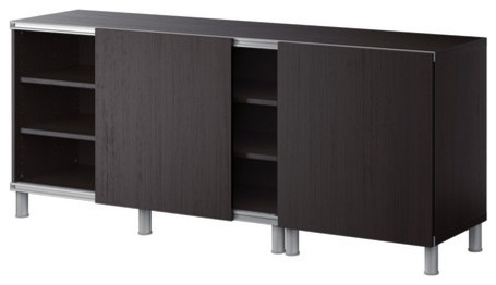 BESTÅ Storage combination w sliding doors modern-storage-units-and-cabinets