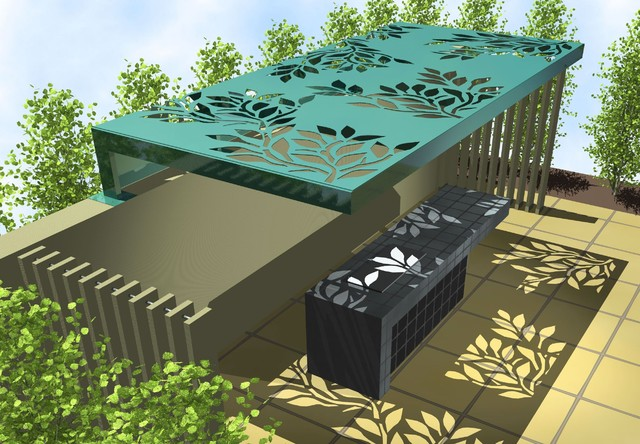 Laser Cut Metal Screens Contemporary Rendering Melbourne By Landscape