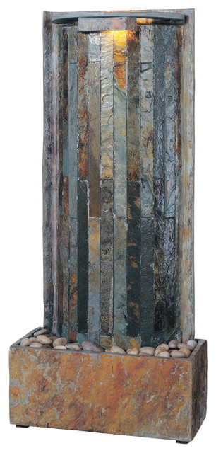 Kenroy 50285SL Waterwall Table/Wall Fountain transitional-indoor-fountains