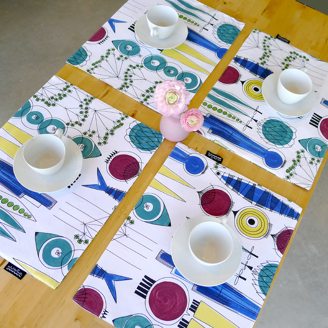Eco-coated placemat: Kitchen Table placemats