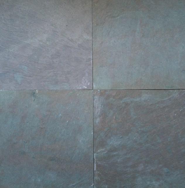 Vermont Black Slate : Vermont mottled purple slate wall and floor tile
