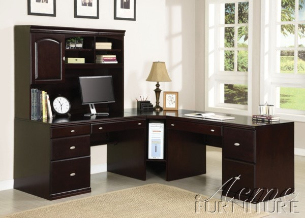 Acme Furniture - Cape Espresso Computer Desk and File Cabinet - 92034 ...