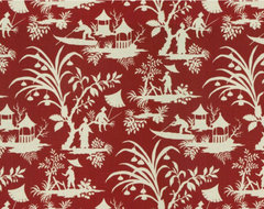 Crystal Lake Lacquer Fabric asian upholstery fabric
