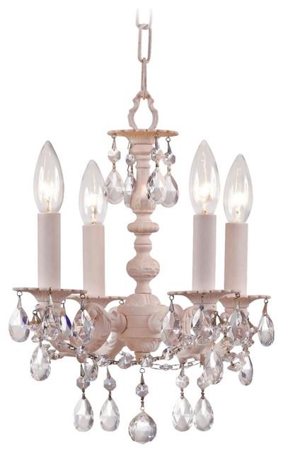 "Crystorama Angelina Blush 12"" High Mini Chandelier traditional-chandeliers"