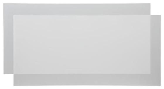 Set of 2 Polypropylene Boards for Chrome Shelving Units modern