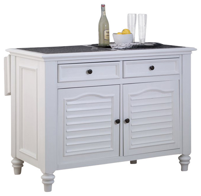 Home Styles Bermuda Kitchen Island In White Transitional Kitchen Islands And Kitchen Carts